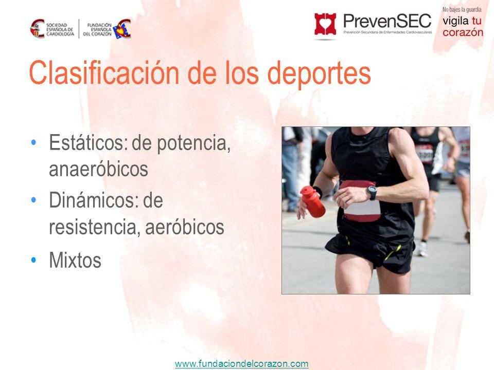 www.fundaciondelcorazon.com Contracciones musculares isométricas de grupos musculares concretos, contra resistencia fija.