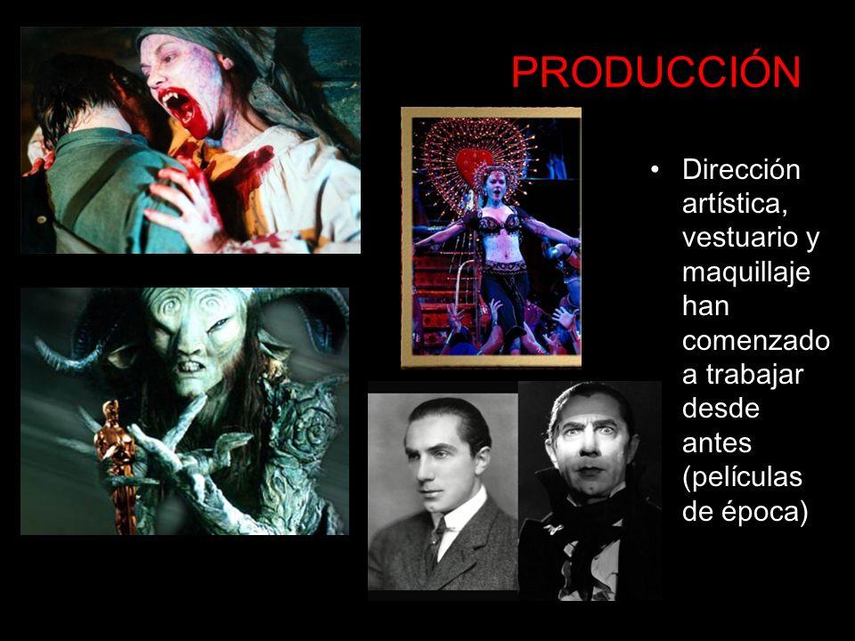 PRODUCCIÓN Dirección artística, vestuario y maquillaje han comenzado a trabajar desde antes (películas de época)