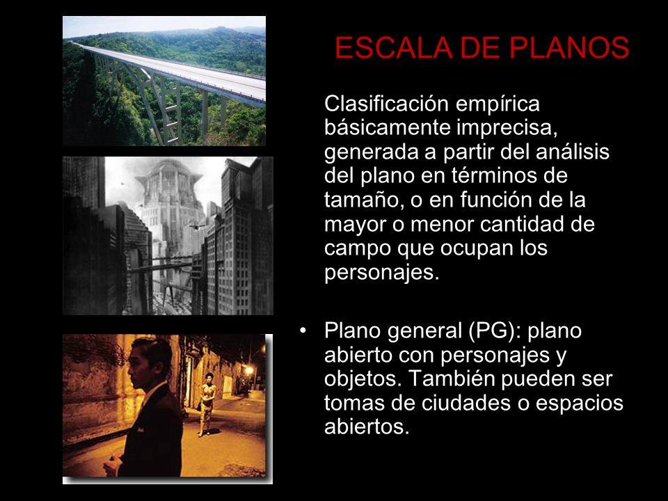 ESCALA DE PLANOS Clasificación empírica básicamente imprecisa, generada a partir del análisis del plano en términos de tamaño, o en función de la mayo