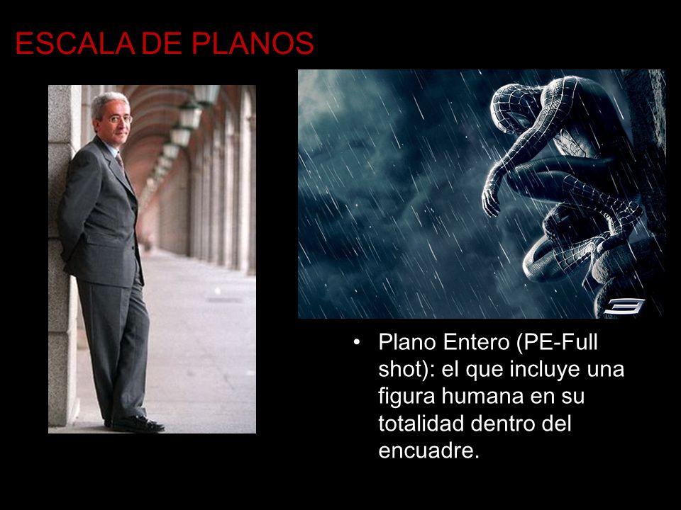 ESCALA DE PLANOS Plano Entero (PE-Full shot): el que incluye una figura humana en su totalidad dentro del encuadre.