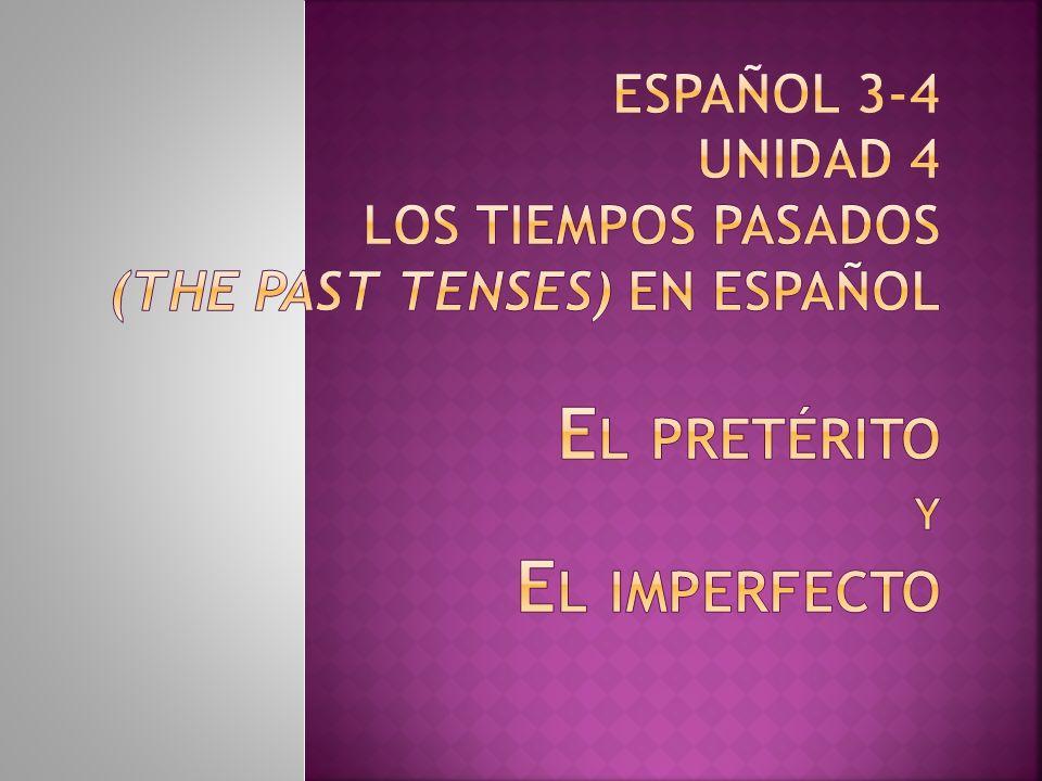 Es el primero (first) de los 2 tiempos pasados en español.