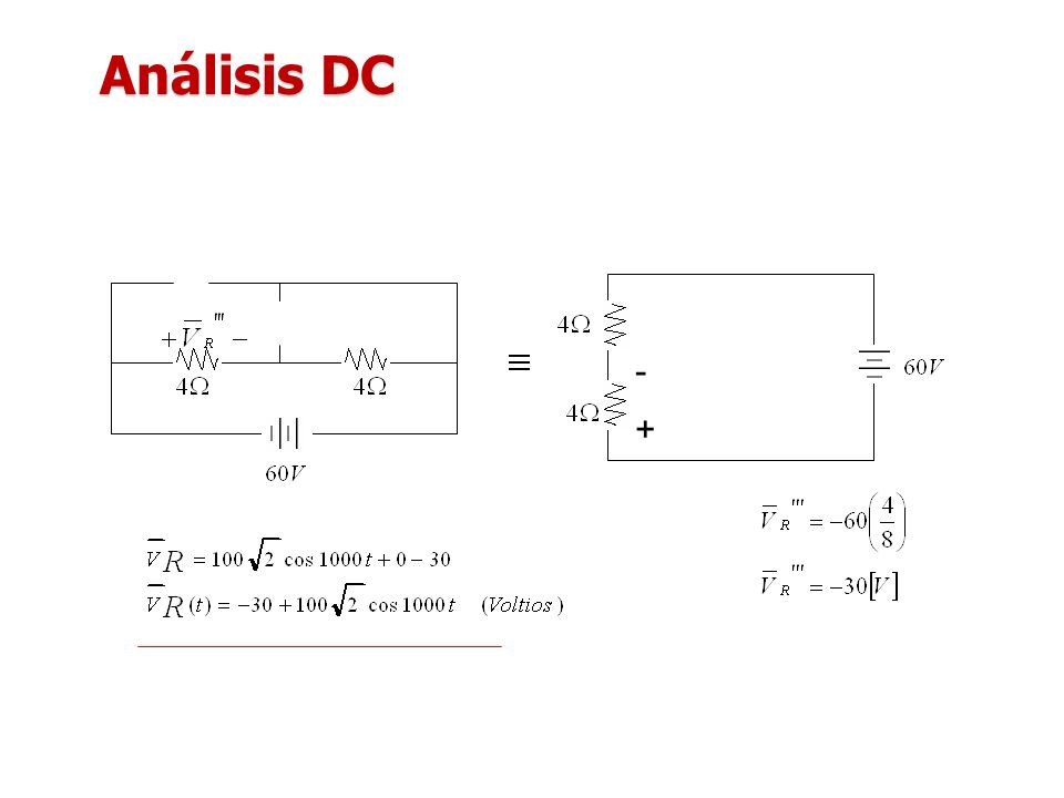 Análisis DC - +