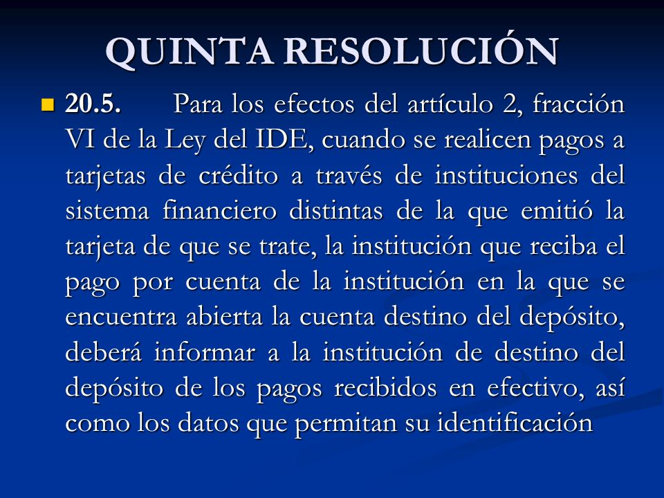 QUINTA RESOLUCIÓN 20.5.