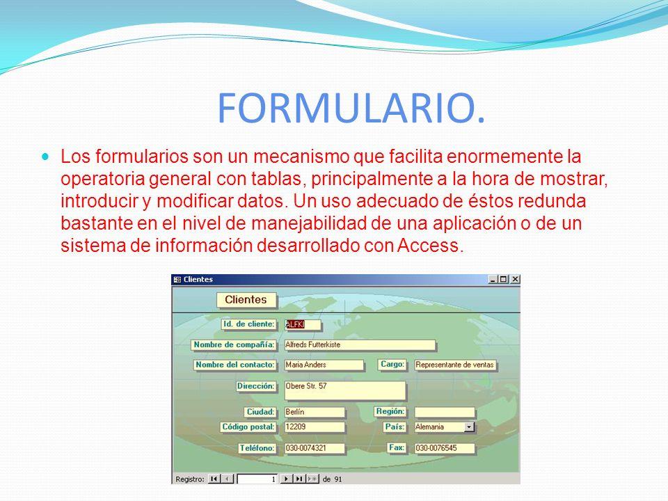 CONSULTAS Las consultas son preguntas que un usuario hace a la base de datos. Con ellas puede obtener información de varias tablas y con la estructura