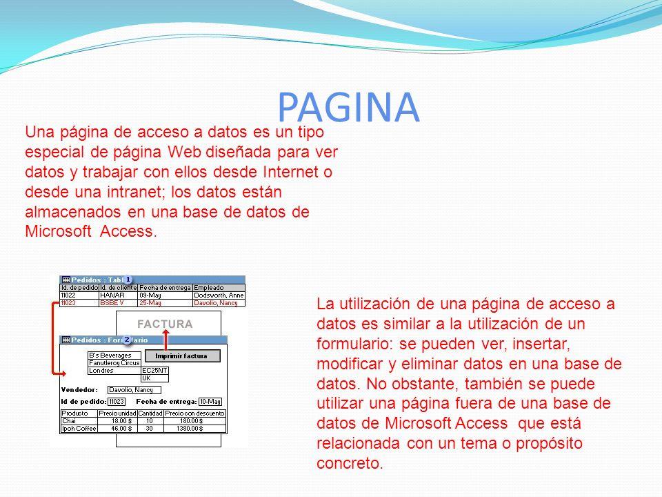 INFORME. Los informes permiten presentar la información con una apariencia altamente profesional a la hora de imprimir nuestros datos.