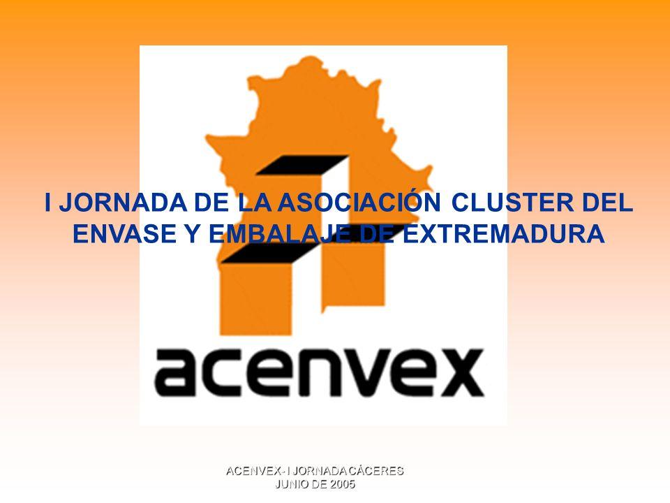 ACENVEX- I JORNADA CÁCERES JUNIO DE 2005 I JORNADA DE LA ASOCIACIÓN CLUSTER DEL ENVASE Y EMBALAJE DE EXTREMADURA