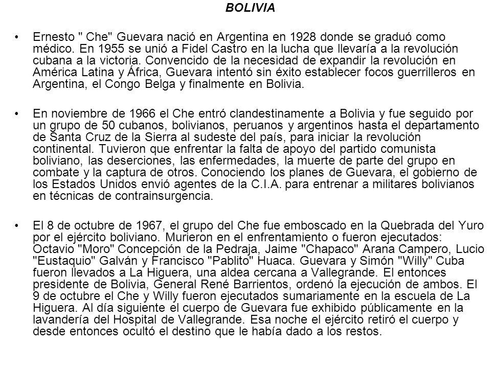 BOLIVIA Ernesto