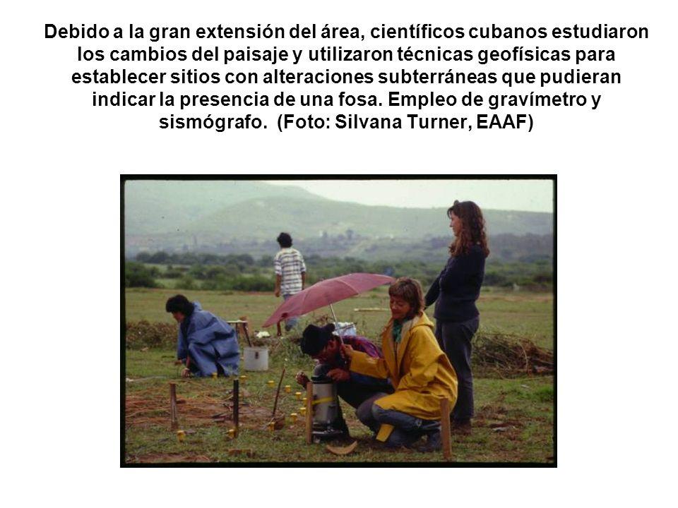 Debido a la gran extensión del área, científicos cubanos estudiaron los cambios del paisaje y utilizaron técnicas geofísicas para establecer sitios co