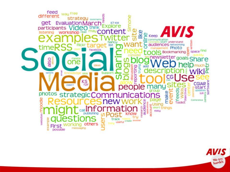 Agenda Avis en Cifras Nuestros Valores Social Media A Quién Por Qué Cómo Cuándo Dónde Herramientas Resultados Integración