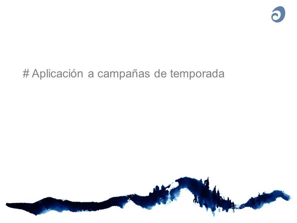 # Aplicación a campañas de temporada
