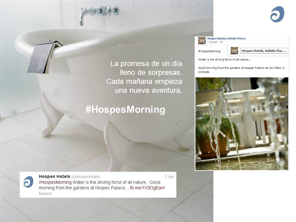 La promesa de un día lleno de sorpresas. Cada mañana empieza una nueva aventura. #HospesMorning