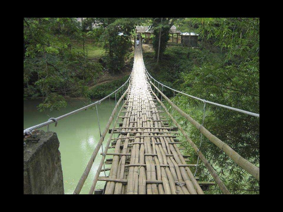 Puente colgante en Bohol, Filipinas