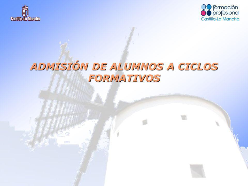 ADMISIÓN DE ALUMNOS A CICLOS FORMATIVOS