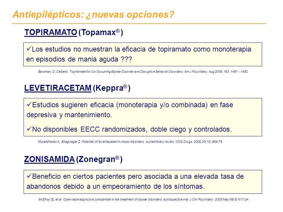 Antiepilépticos: ¿nuevas opciones. ZONISAMIDA (Zonegran ® ) McElroy SL et al.