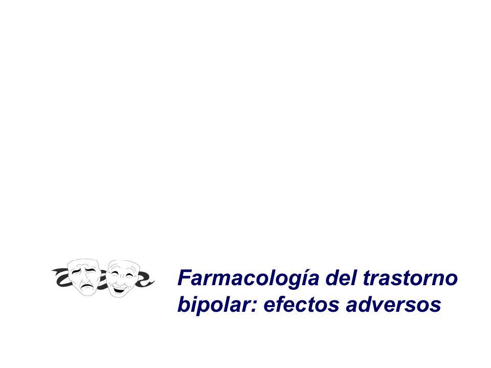 Farmacología del trastorno bipolar: efectos adversos