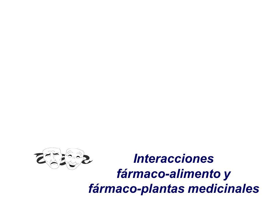 Interacciones fármaco-alimento y fármaco-plantas medicinales