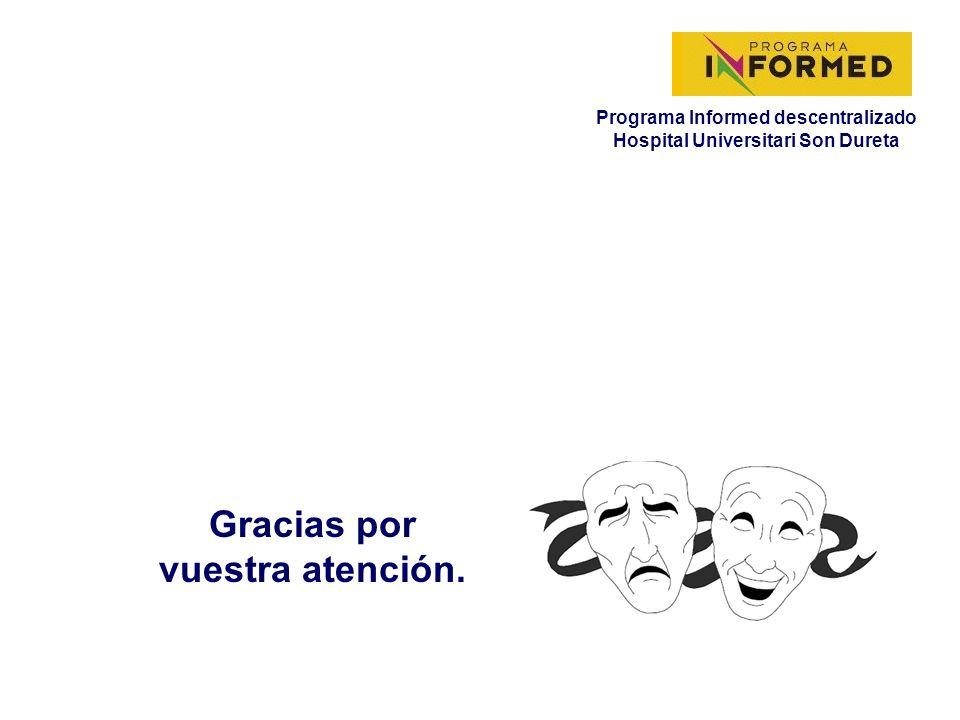 Programa Informed descentralizado Hospital Universitari Son Dureta Gracias por vuestra atención.