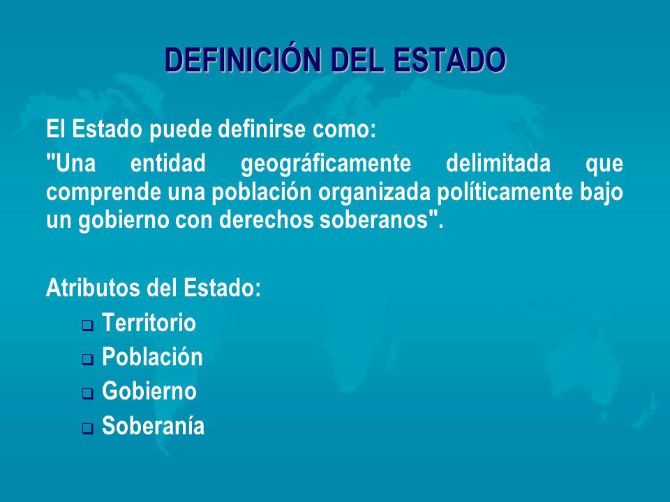 DEFINICIÓN DEL ESTADO El Estado puede definirse como: