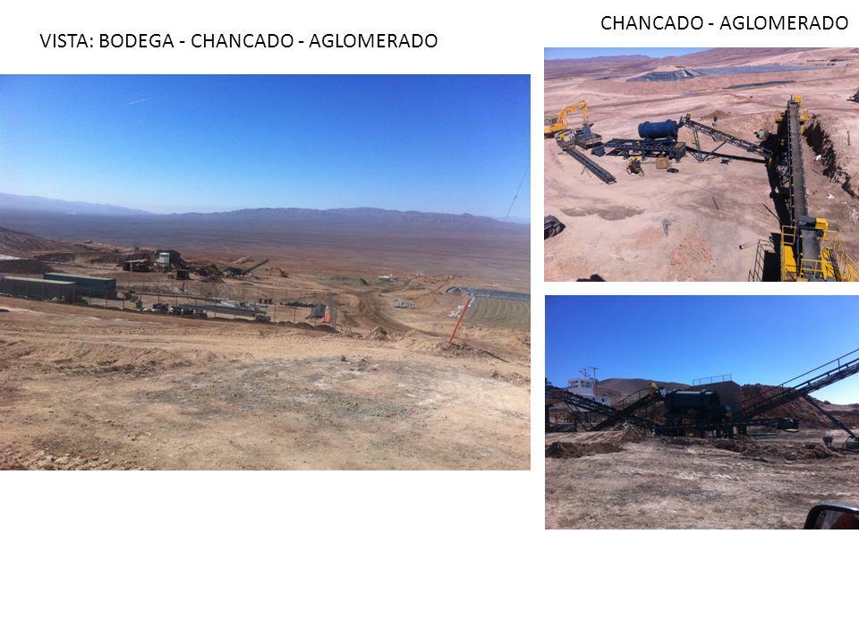 CHANCADO - AGLOMERADO VISTA: BODEGA - CHANCADO - AGLOMERADO