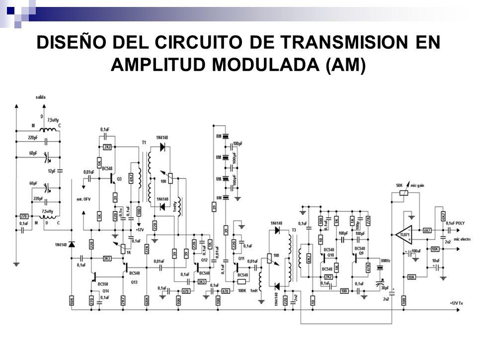 DISEÑO DEL CIRCUITO DE TRANSMISION EN AMPLITUD MODULADA (AM)