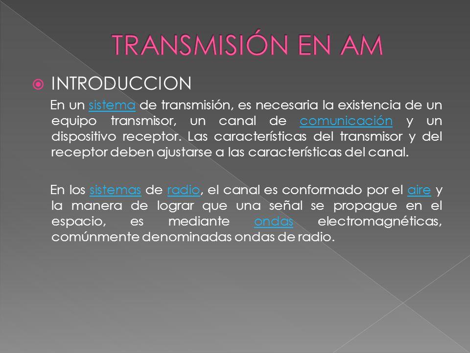 INTRODUCCION En un sistema de transmisión, es necesaria la existencia de un equipo transmisor, un canal de comunicación y un dispositivo receptor. Las