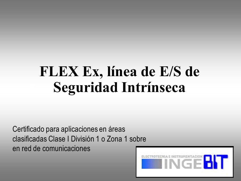 Generalidades Ex Es un sistema de E/S de seguridad intrínseca certificado para trabajar en ambientes clasificados Clase I División 1 y Zona 1 (explosivos) Es completamente compatible con los sistemas instalados en planta.