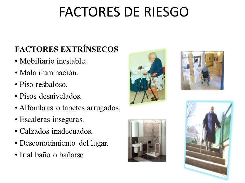 FACTORES DE RIESGO FACTORES EXTRÍNSECOS Mobiliario inestable.