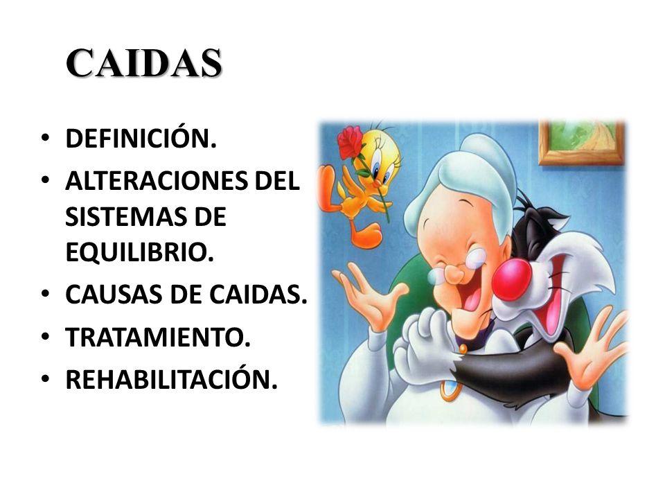 CAIDAS DEFINICIÓN.ALTERACIONES DEL SISTEMAS DE EQUILIBRIO.