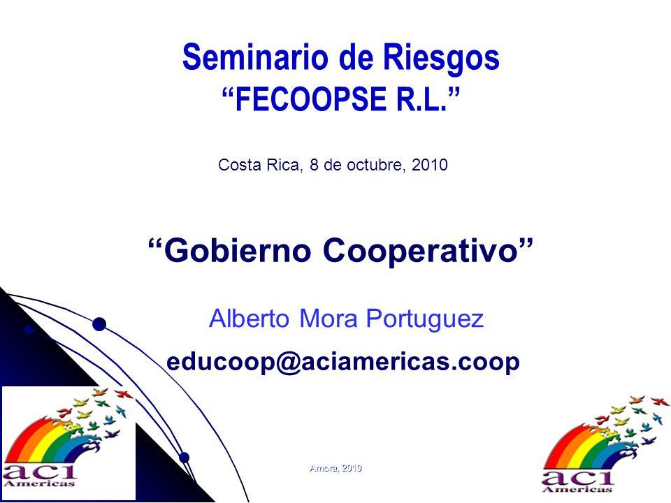 Amora, 20101 Seminario de Riesgos FECOOPSE R.L. Gobierno Cooperativo Costa Rica, 8 de octubre, 2010 Alberto Mora Portuguez educoop@aciamericas.coop