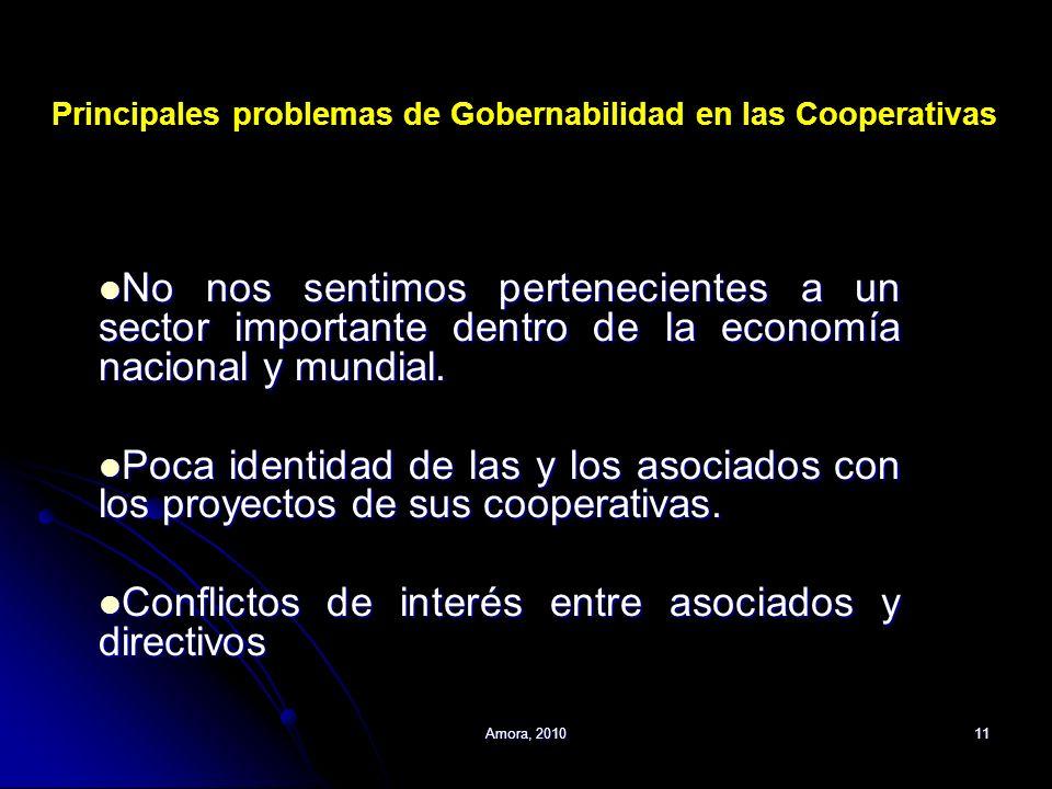 Amora, 201011 No nos sentimos pertenecientes a un sector importante dentro de la economía nacional y mundial. No nos sentimos pertenecientes a un sect