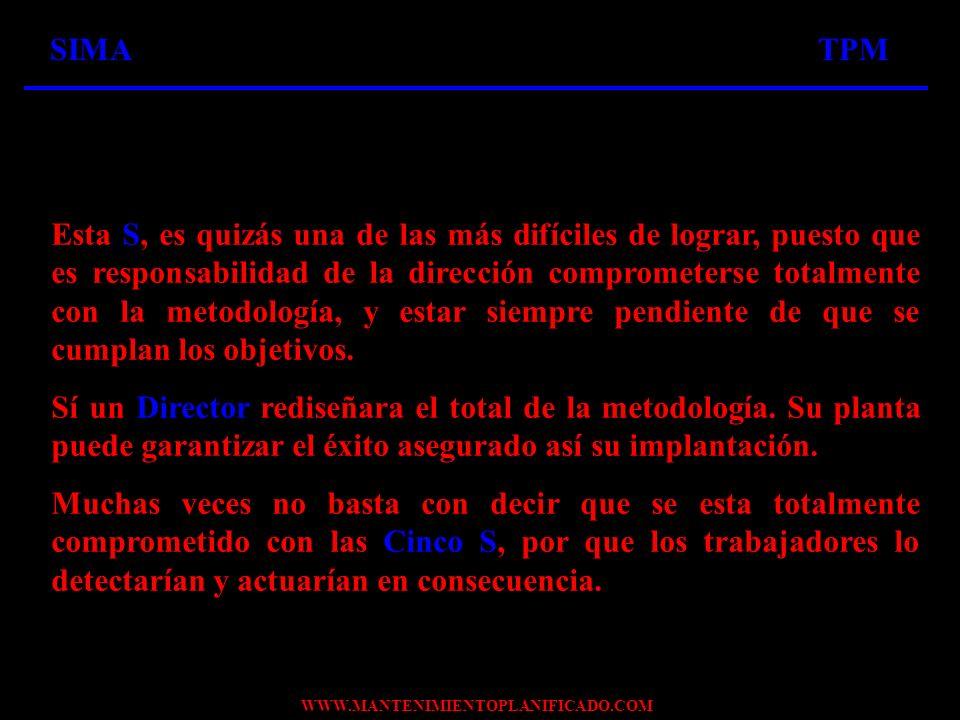 WWW.MANTENIMIENTOPLANIFICADO.COM CORRESPONDENCIA DE LAS CINCO S MAS UNO (USTED) PASO I.ORGANIZACIÓN DICTAR POLÍTICAS, MÉTODOS, COORDINACIÓN, INTEGRACIÓN, CRITERIOS PASO I.ORGANIZACIÓN DICTAR POLÍTICAS, MÉTODOS, COORDINACIÓN, INTEGRACIÓN, CRITERIOS LAS POLÍTICAS Y LOS MÉTODOS LOS DICTAN LA PRESIDENCIA O DIRECCIÓN DE LA ORGANIZACIÓN, Y HACIENDO USO DE LA COORDINACIÓN Y LA INTEGRACIÓN, DEFINEN LOS CRITERIOS PARA SU APLICACIÓN
