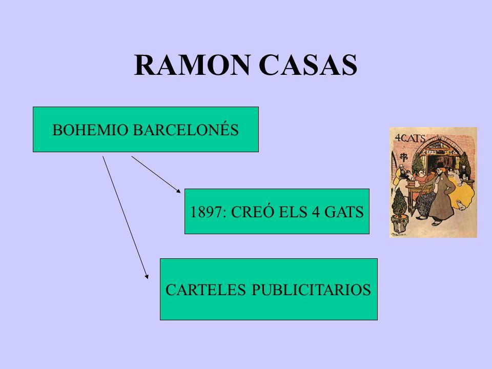 RAMON CASAS BOHEMIO BARCELONÉS 1897: CREÓ ELS 4 GATS CARTELES PUBLICITARIOS