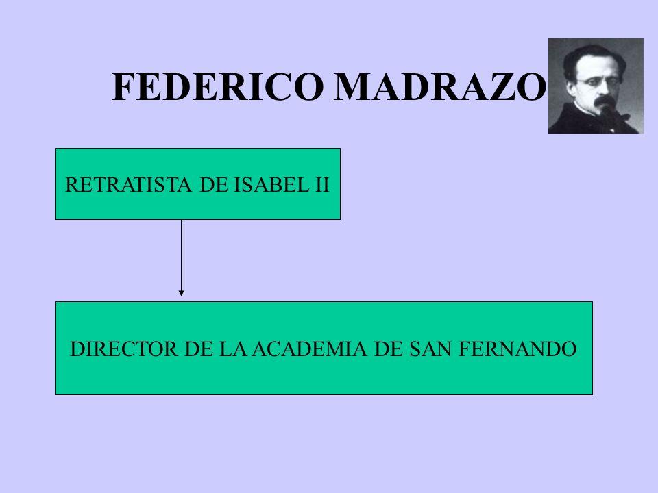 FEDERICO MADRAZO RETRATISTA DE ISABEL II DIRECTOR DE LA ACADEMIA DE SAN FERNANDO