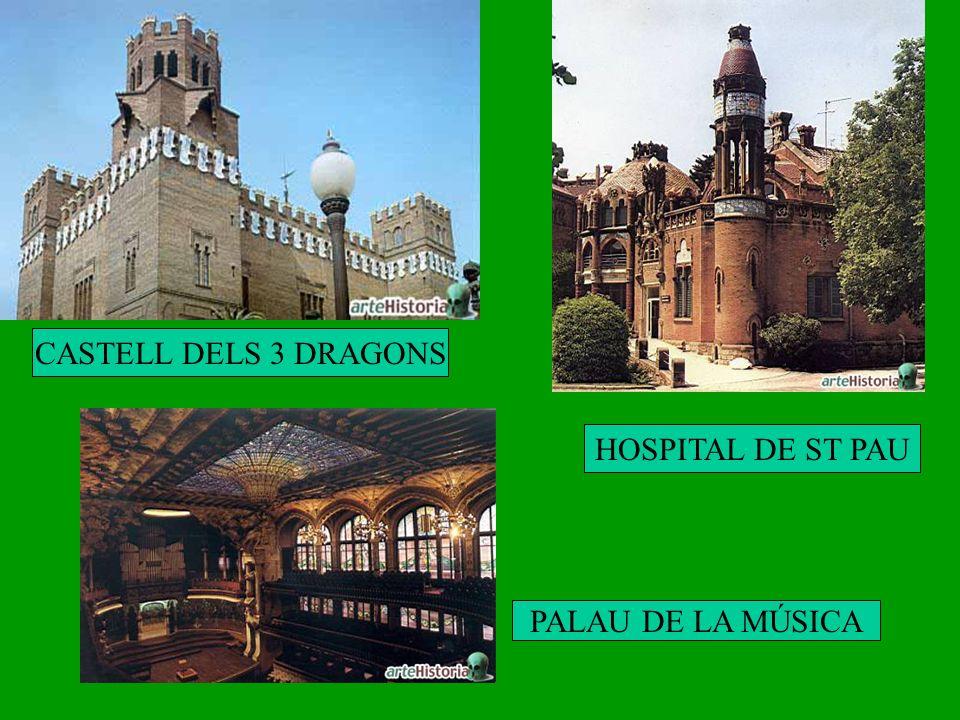 CASTELL DELS 3 DRAGONS HOSPITAL DE ST PAU PALAU DE LA MÚSICA