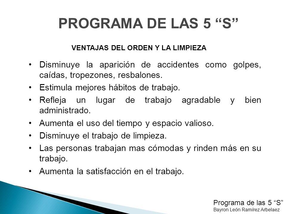 Programa de las 5 S Bayron León Ramírez Arbelaez SEIRI - CLASIFICAR VOLVER siguiente