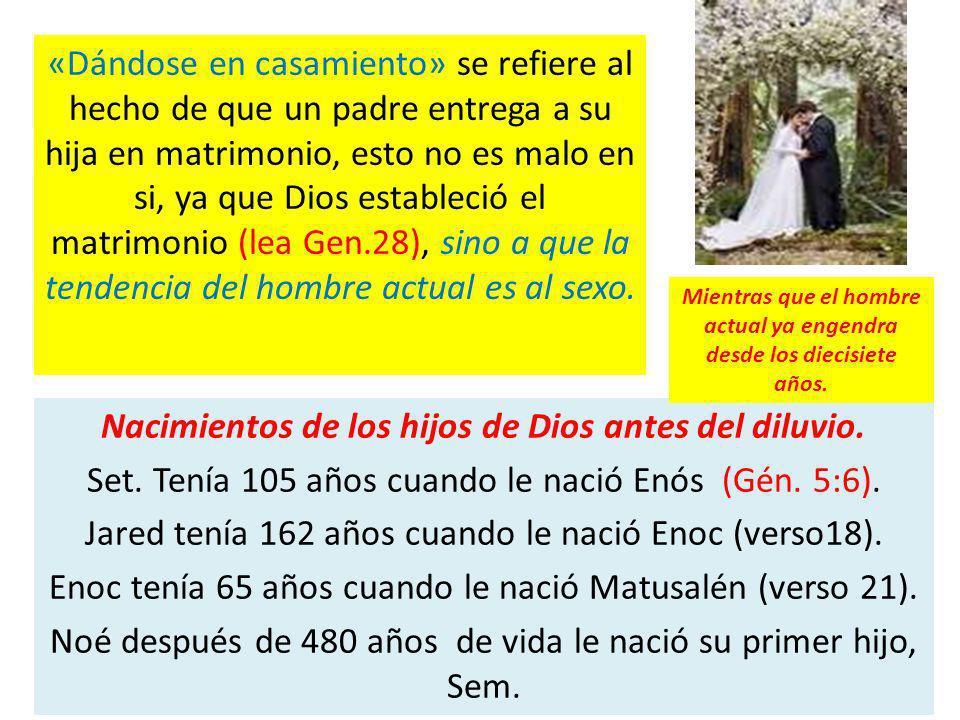 «Dándose en casamiento» se refiere al hecho de que un padre entrega a su hija en matrimonio, esto no es malo en si, ya que Dios estableció el matrimon