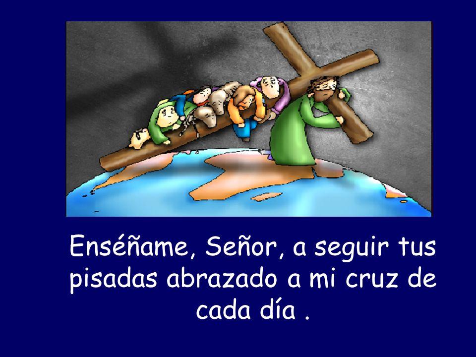 Enséñame, Señor, a seguir tus pisadas abrazado a mi cruz de cada día.