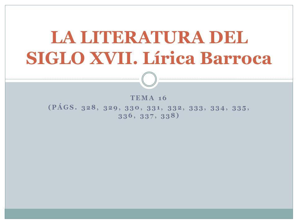 índice Marco histórico y cultural Tipos de poesía barroca Grandes poetas Luis de Góngora Francisco de Quevedo Félix Lope de Vega