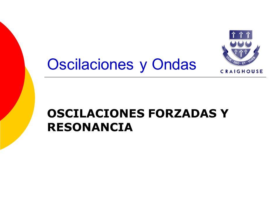 Oscilaciones y Ondas OSCILACIONES FORZADAS Y RESONANCIA