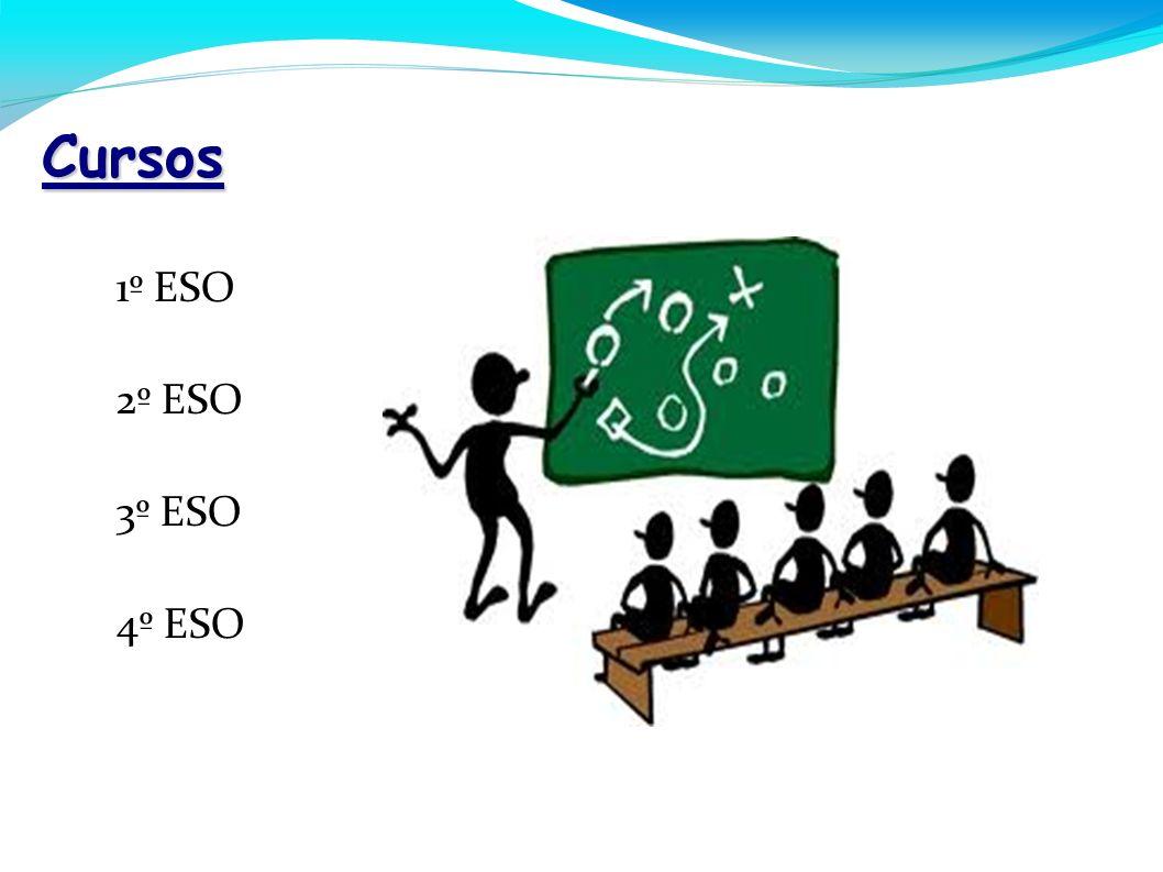 Cursos - 1º ESO - 2º ESO - 3º ESO - 4º ESO