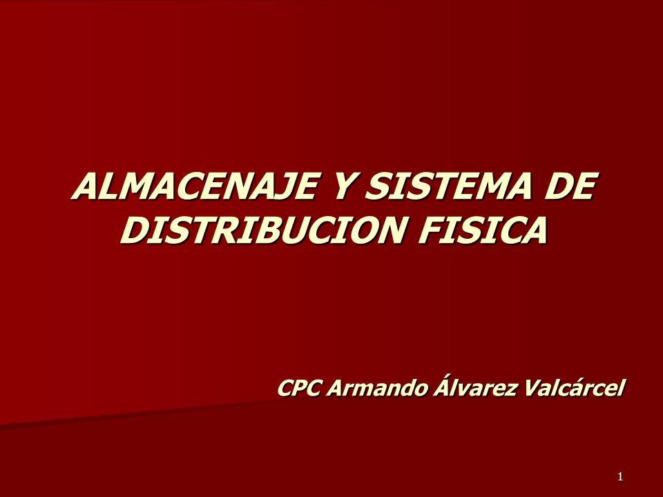 1 ALMACENAJE Y SISTEMA DE DISTRIBUCION FISICA CPC Armando Álvarez Valcárcel