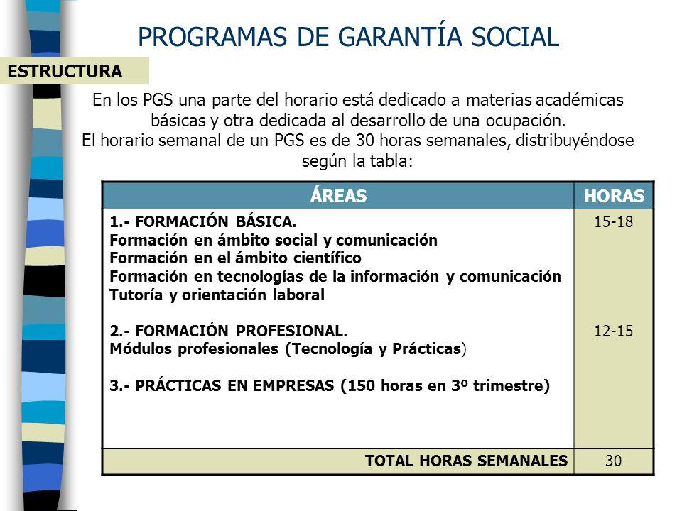 PROGRAMAS DE GARANTÍA SOCIAL DE INICIACIÓN PROFESIONAL ¿QUÉ SON? Son programas educativos que proporcionan a alumnos/as, sin titulación, las enseñanza