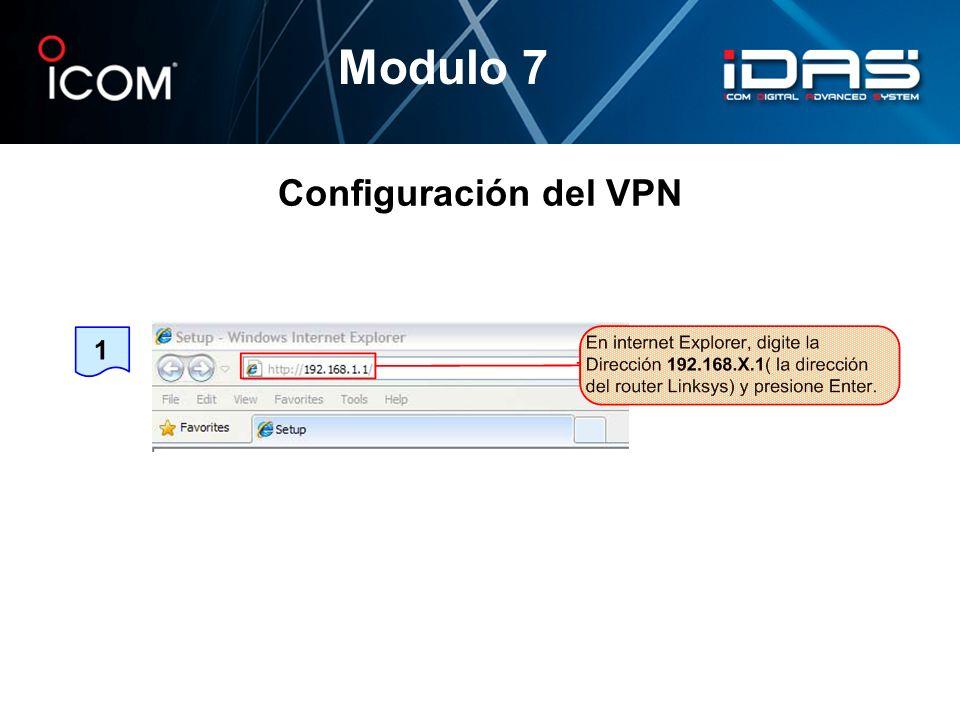Configuración del VPN Modulo 7