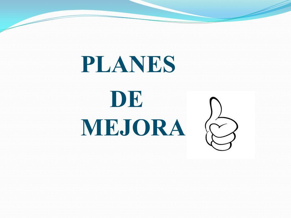PLANES DE MEJORA