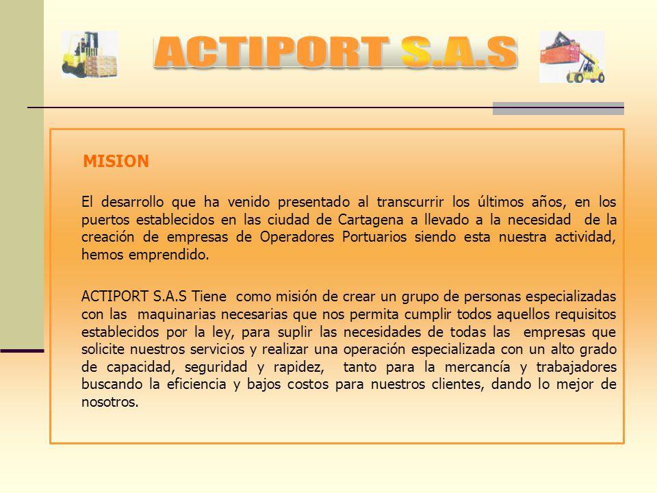 El Ministerio de Transporte bajo la Resolución No.001110 del 15 de Abril del 2011. se obtiene el Registro como Operador Portuario en los puertos de Ca