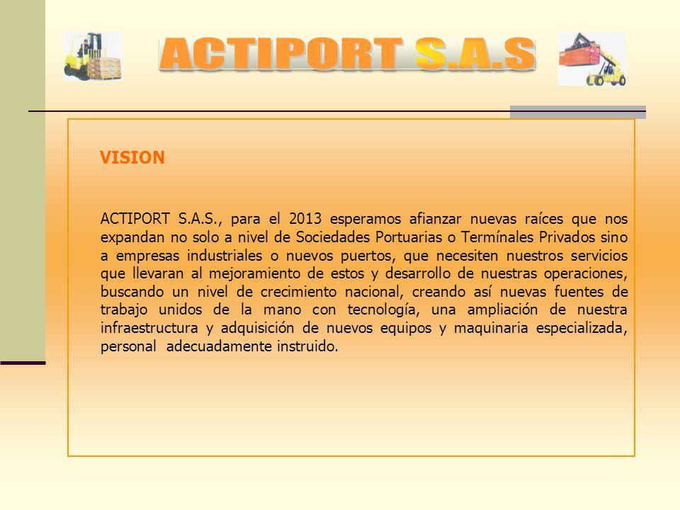 MISION El desarrollo que ha venido presentado al transcurrir los últimos años, en los puertos establecidos en las ciudad de Cartagena a llevado a la n