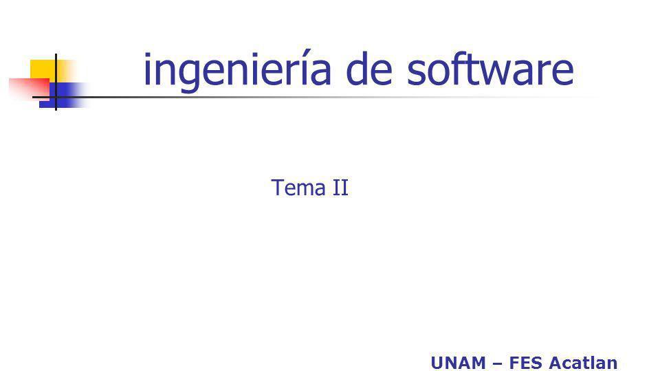 UNAM – FES Acatlan ingeniería de software Tema II