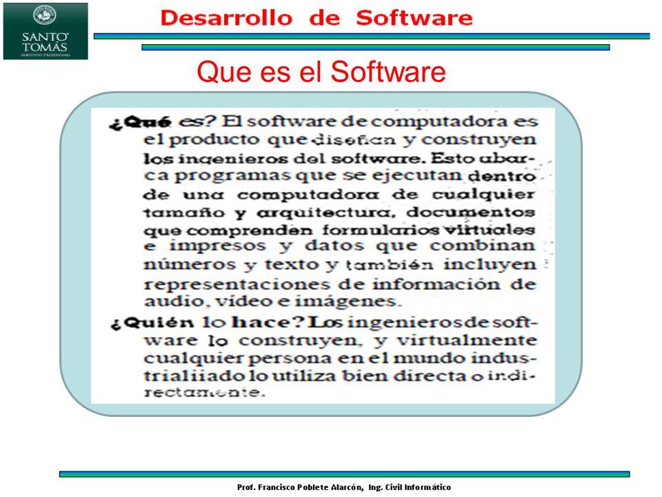 El software como elemento lógico.–Se desarrolla, no se fabrica: Calidad del diseño.
