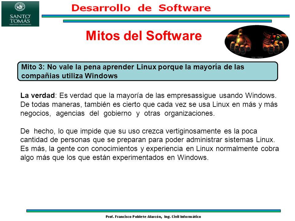 La verdad: Es verdad que la mayoría de las empresassigue usando Windows. De todas maneras, también es cierto que cada vez se usa Linux en más y más ne