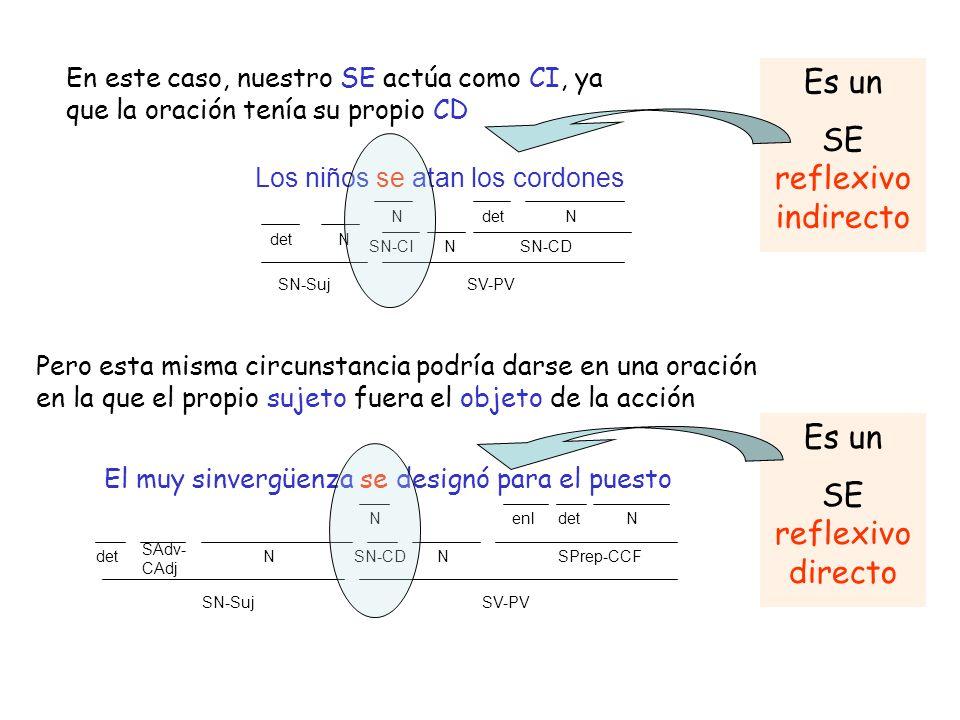 Sí El SE sólo es un refuerzo expresivo No 5 4 3.2 3.1 ¿El sujeto es singular o plural.
